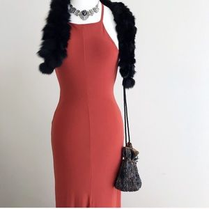 Misguided Rust Maxi Dress